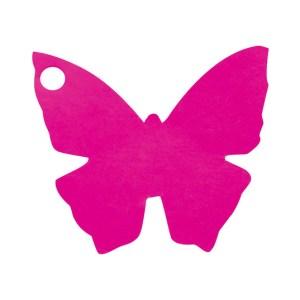 Étiquette papillon fuchsia