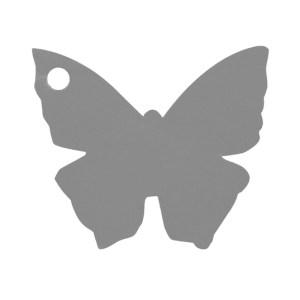Étiquette papillon gris
