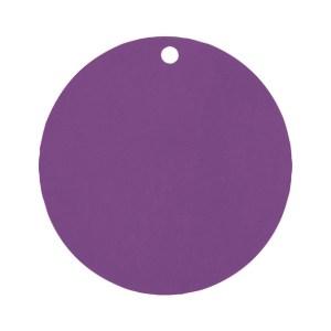 Étiquette rond prune