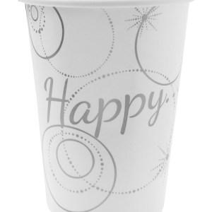 Gobelet happy blanc