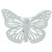 Pince papillon métal blanc