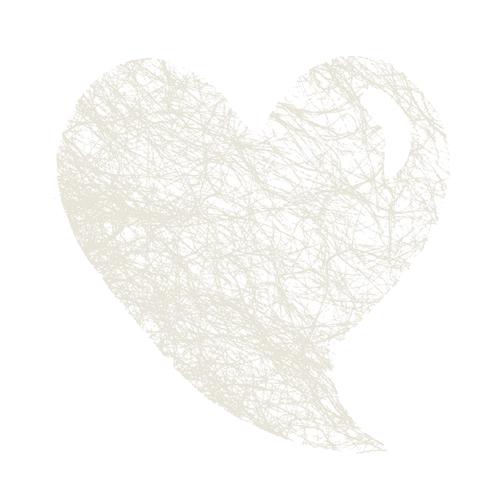Set de table coeur abaca blanc