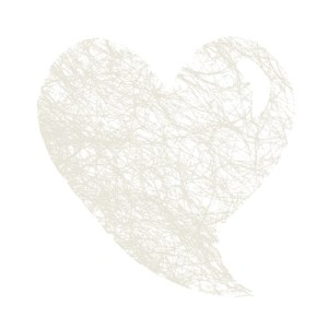 Set de table coeur abaca blanc