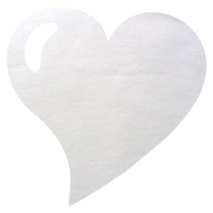 Set de table coeur blanc