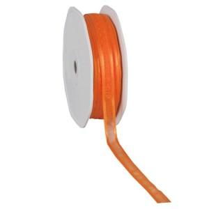 Ruban 10 mm organdi bordure satin orange