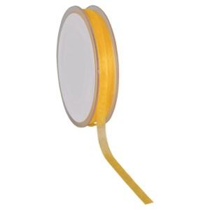 Ruban 7 mm organdi jaune