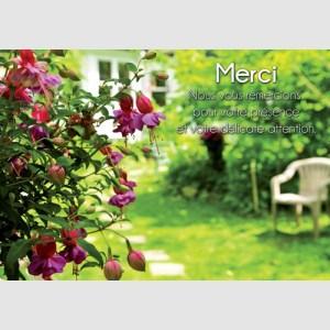 Remerciement jardin