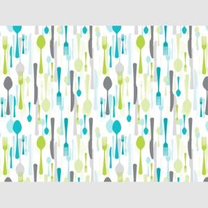 Set de table couverts turquoise