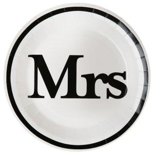 Assiette Mrs - blanc