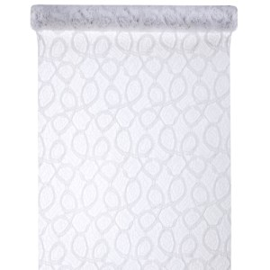 Chemin de table dentelle mat - blanc