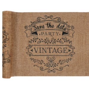 Chemin de table vintage - kraft