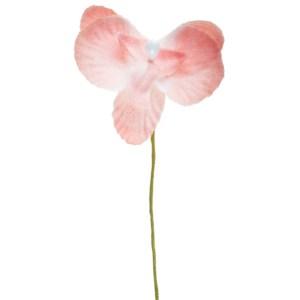 Orchidée en tissu - rose