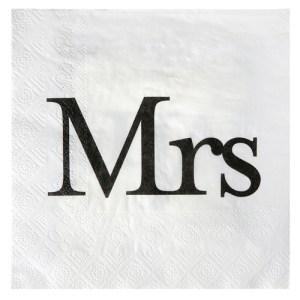 Serviette Mrs - blanc