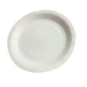 Assiette en carton - blanc
