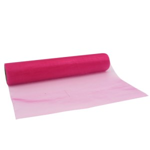 Chemin de table organza - fuchsia