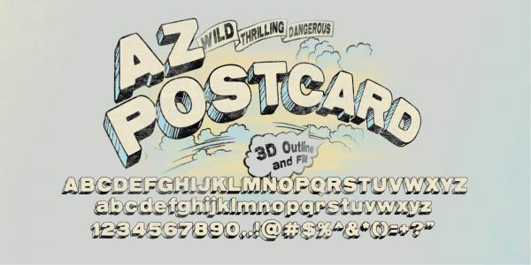 AZ Postcard 3D by Artist of Design