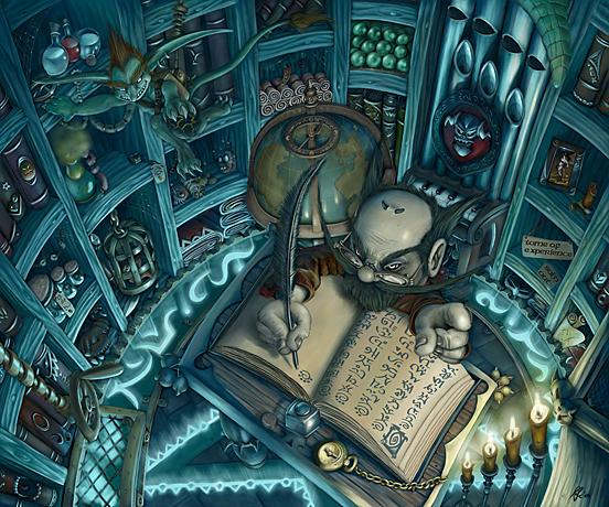 Gnome Warlock Shop final 55 Captivating Examples of Illustration  Art
