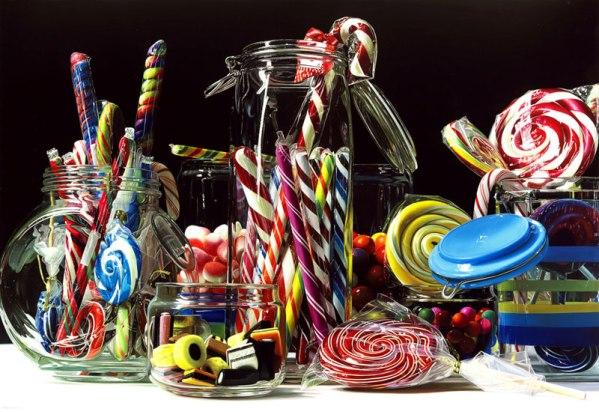 hyperrealistic-paintings-roberto-bernardi-candy-rainbow