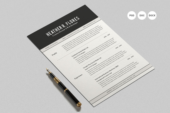 2-pages-resume-set-cv-template