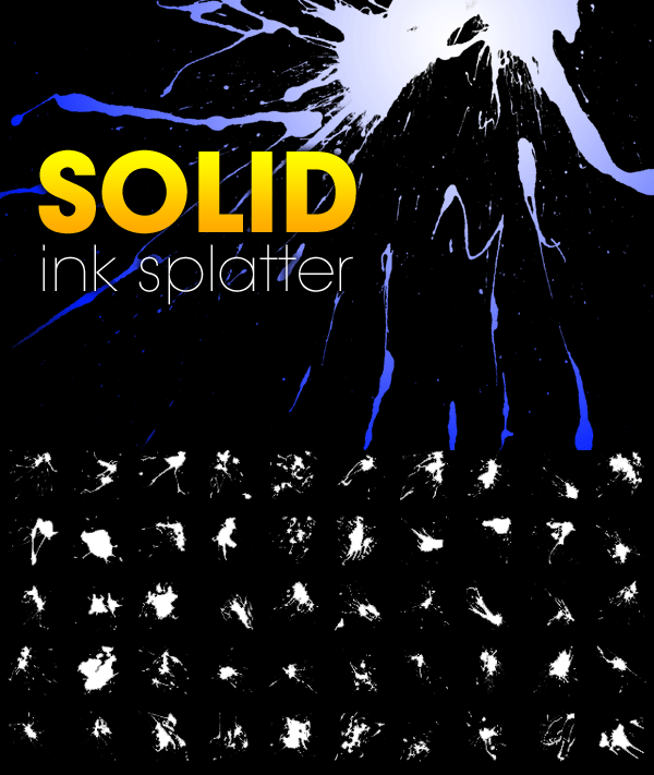 50 Solid Ink Splatter Brushes