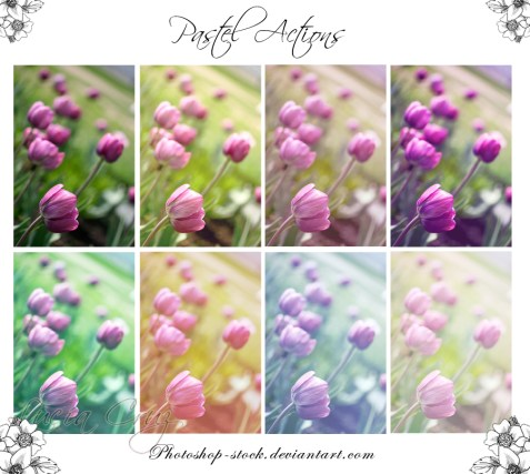 7 Pastel Actions