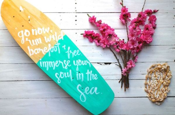 """""""Go run soul"""" skateboard deck by Ames Collective"""