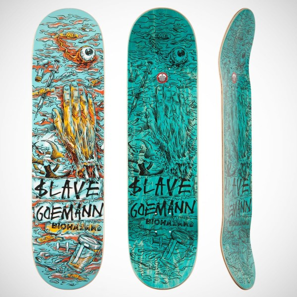 """Joe Goemann Wasted"" skateboard deck by Ben Horton for Slave"