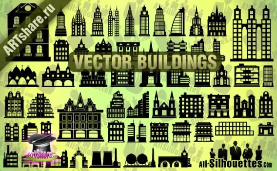 57 Vector Buildings