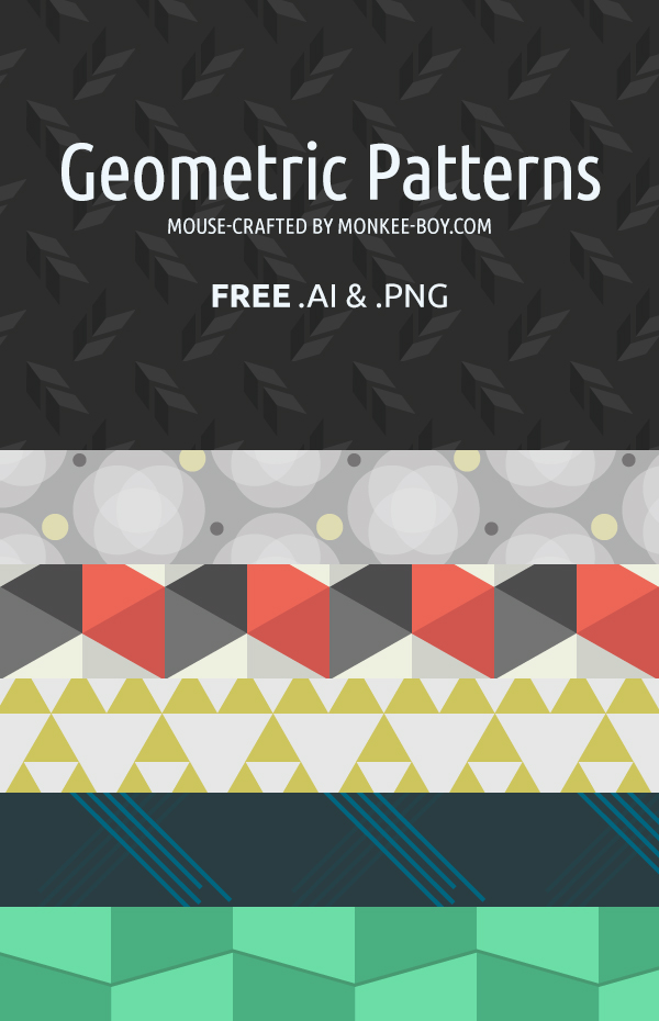 6 Geometric Patterns by Stephanie Cain