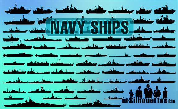 70 Vector Navy Ships
