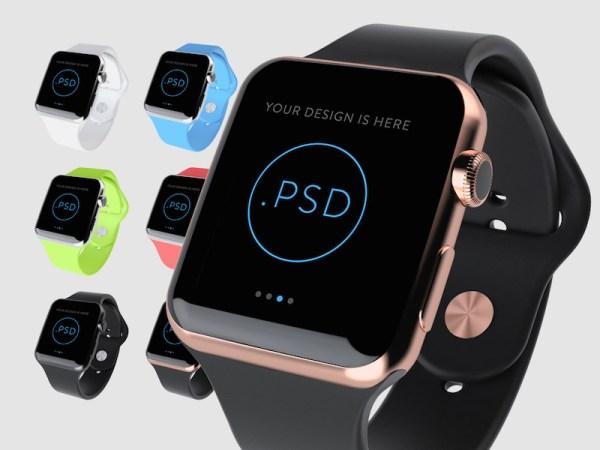 Apple Watch Free Mockup PSD by Super Crowds inc.
