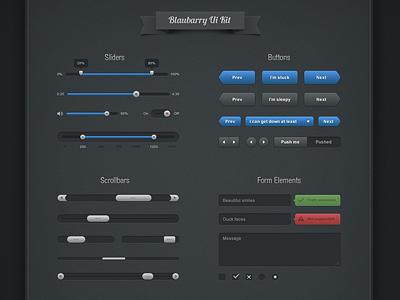 Blaubarry Free UI kit 2 by Mikael Eidenberg