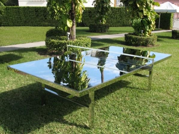 Chrome Ping Pong Table
