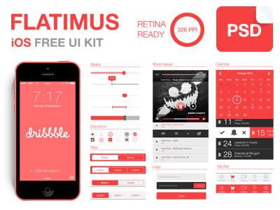 Flatimus iOS Free UI Kit by a.k.a satys