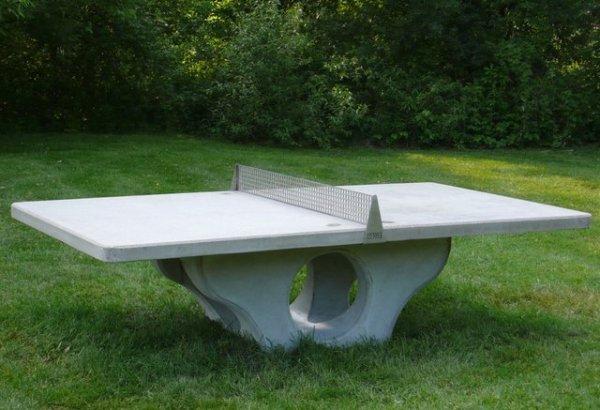 Henge Concrete Ping Pong Table