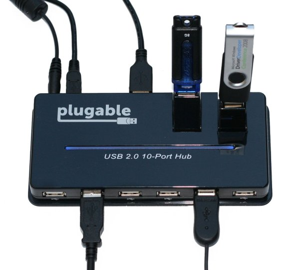 Plugable 10-Port Powered USB 2.0
