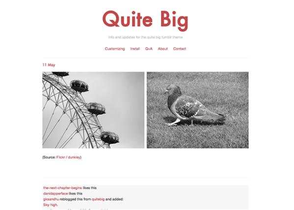 Quite Big Tumblr Theme