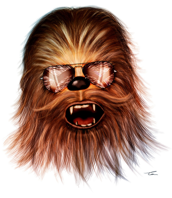 STAR WARS Chewbacca by Tom Brodie-Browne