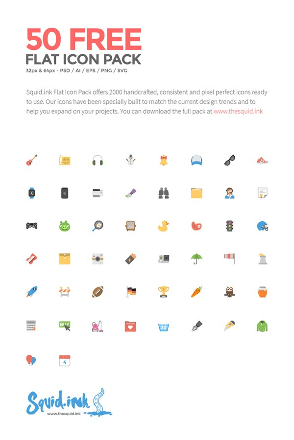 50-free-flat-icons