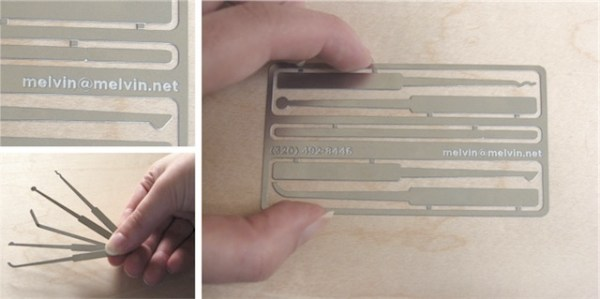 Lock Pick Business Card