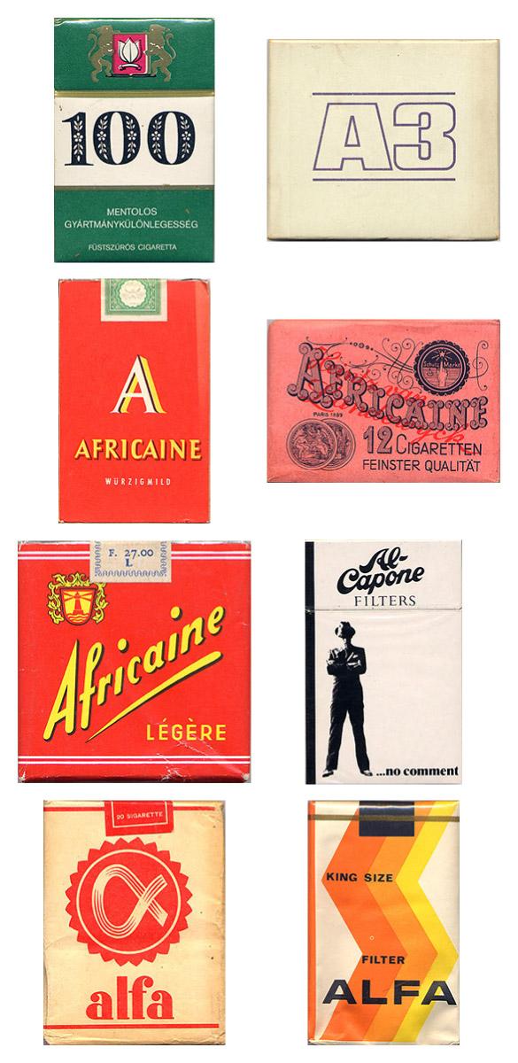 Vintage Cigarette Pack Designs