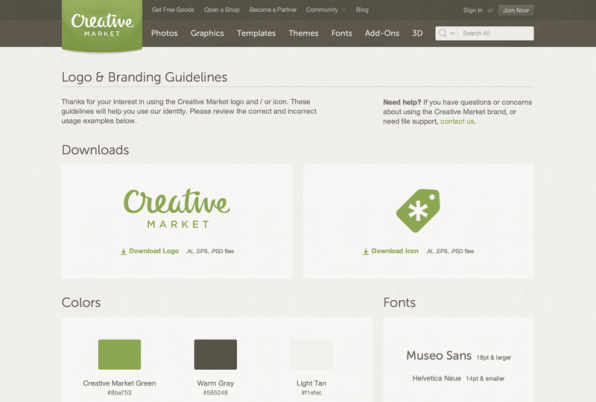 Creative Market Brand Guidelines