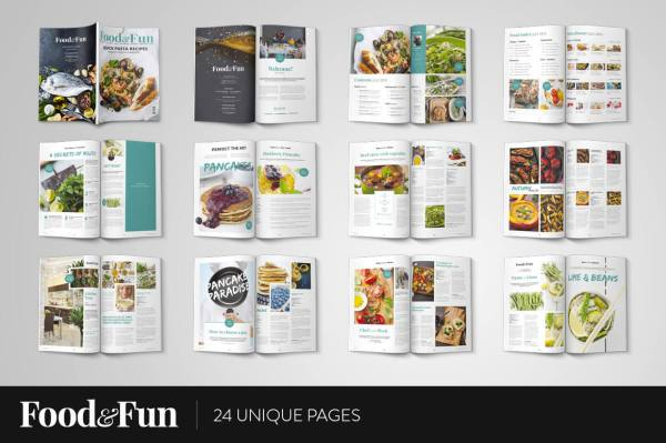 Food&Fun Magazine InDesign Template