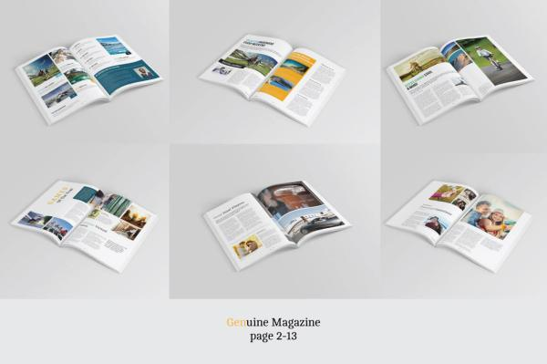 Genuine Magazine Template
