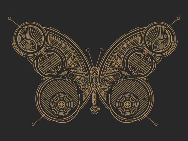 Steampunk Butterly by Catharsis
