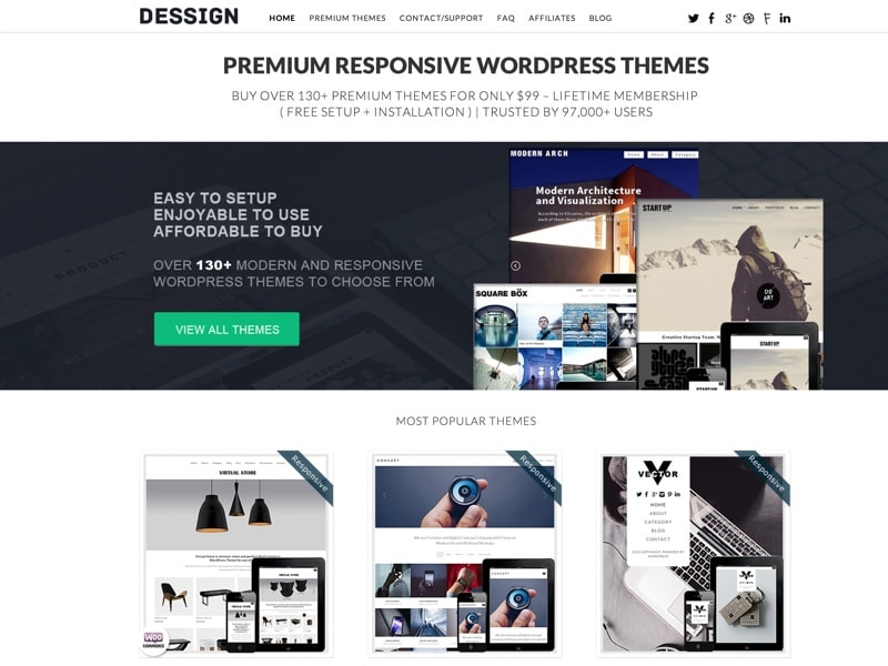 Dessign Themes Homepage