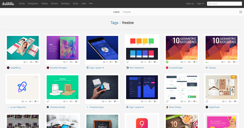 01-dribbble-freebies-tags-search