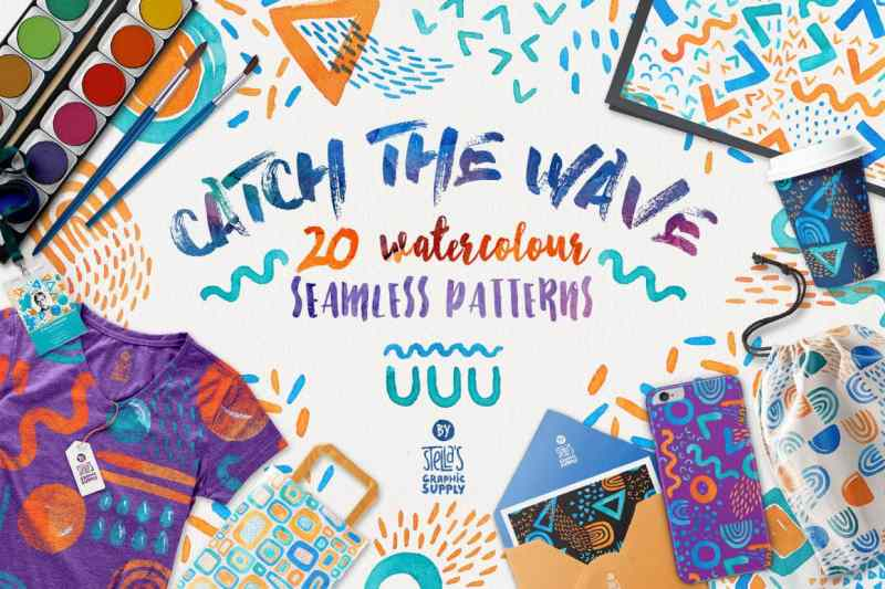 Catch the Wave, Seamless Patterns (1)-min