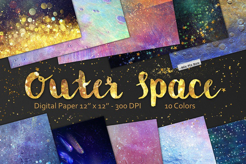Outer Space Digital Paper (1)