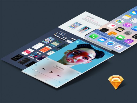 iOS UI kit for Sketch
